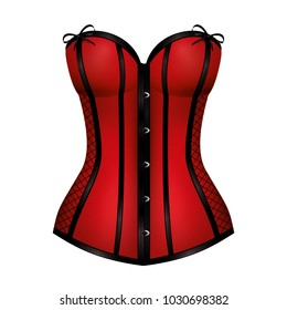 8c61bca3ae7 Red corset. Vector design isolated for all backgrounds.