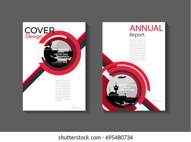 red cover modern abstract cover book Brochure template, design, annual report, magazine and flyer layout Vector a4