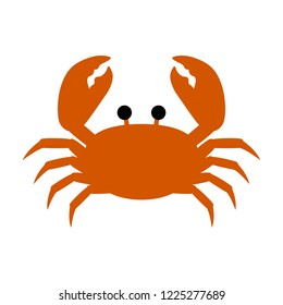 A red crab vector, simple and flat design, minimalist style.
