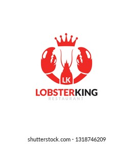 Red crawfish prawn shrimp lobster seafood isolated logo and design elements on white background