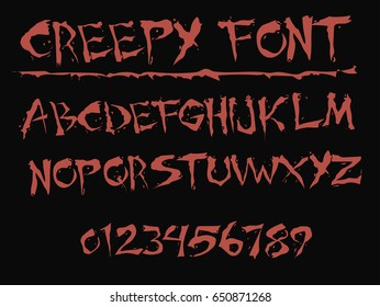 Creepy Font Images, Stock Photos & Vectors | Shutterstock