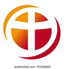 Red cross abstract religion icon