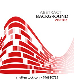 Red curves Background, suitable as an abstract background for brochures, business cards and reports