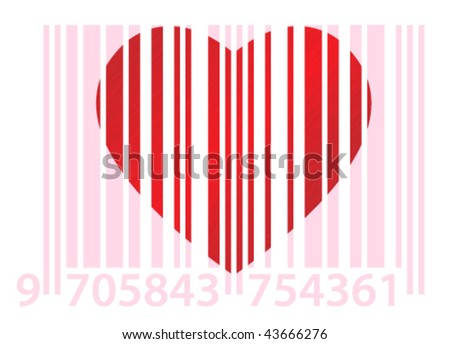 Red Dappled Heart On White Background Stock Vector Royalty Free