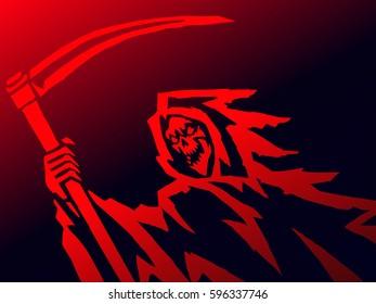 Red Dark Death. Vector Illustration