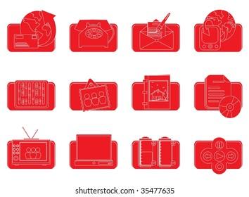 red desktop icons