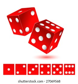 Red dice icon