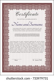Red Diploma. Money style design. Customizable, Easy to edit and change colors. Easy to print.