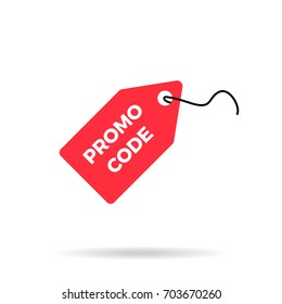 Red discount label sale price tag icon promo code icon