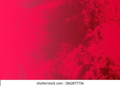 Red Distress urban used texture. Grunge rough dirty background. Brushed black paint cover. Aged grainy messy template. Renovate wall scratched backdrop. Empty aging design element. EPS10 vector.