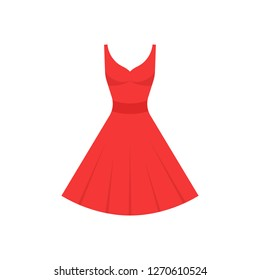 Red dress icon. Vector.