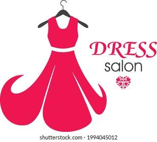 red-dress-on-hanger-logo-260nw-199404501