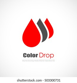 Red drop logo. Abstract drop logo. Drop vector icon. Drop logo design.
