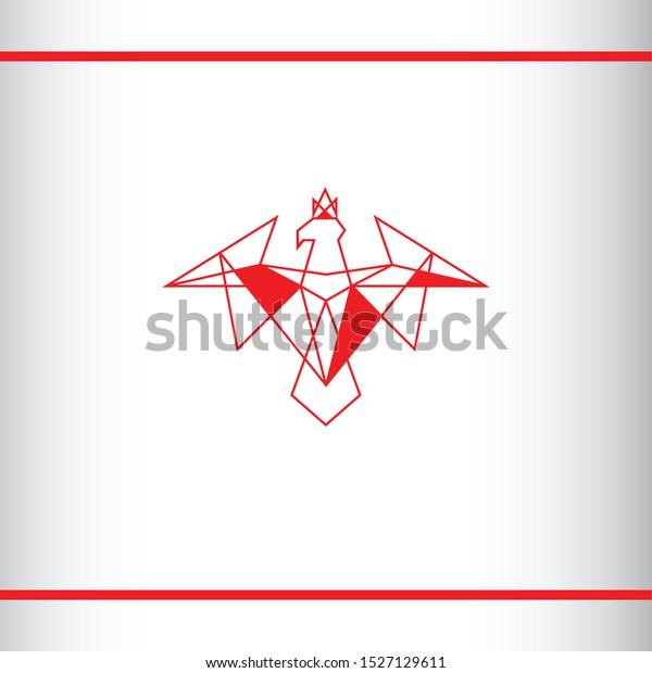 Image Vectorielle De Stock De Aigle Rouge Avec Une Couronne Sur 1527129611