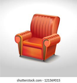 red elegance chair