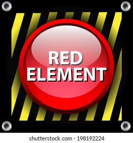 Red element. Red web element.