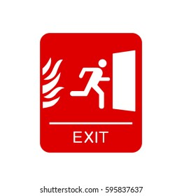 Red emergency exit sign