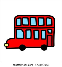Red english double decker bus.