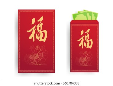The Red envelop to give in chinese new year day.