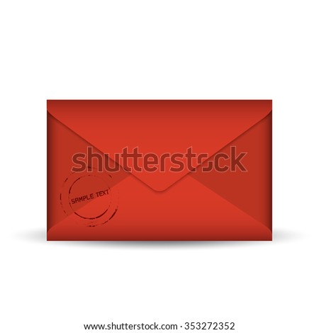 red envelope template vector illustration stock vector royalty free