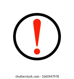 Red exclamation mark sticker