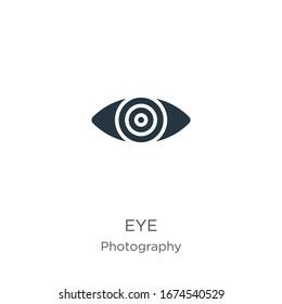 Red eye icon vector. Trendy flat red eye icon from photography collection isolated on white background. Vector illustration can be used for web and mobile graphic design, logo, eps10