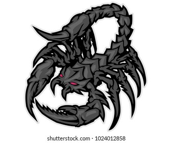 red eyes black scorpion monster cartoon character