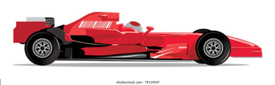 Red F1 Racing Car