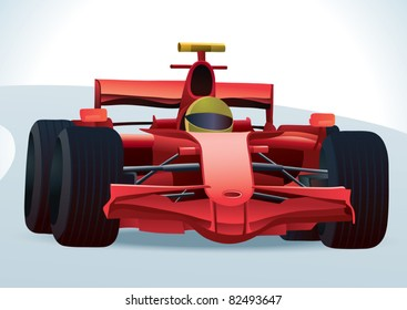 Red F1 Racing Car