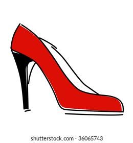 red fashion shoe