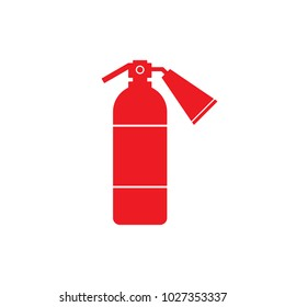 Red fire extinguisher icon. Vector.