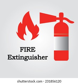 Red fire extinguisher vector,fire extinguisher,fire protection equipment