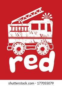 Red Firetruck Boys Silkscreen