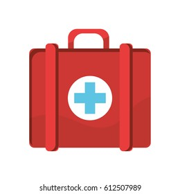 red first aid kit medications tools