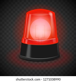 Red flasher icon. Realistic illustration of red flasher vector icon for web design