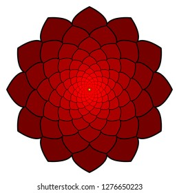 red flower style ornament