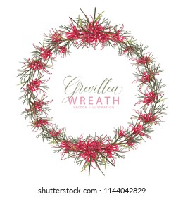 Red Flowering Grevillea Wreath