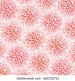 Red Flowers - abstract background pattern - vector eps10