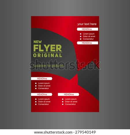 red flyer designer cover vector stock vector royalty free