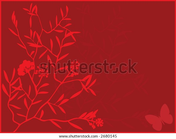 Red Foliage Background Design (Vector)