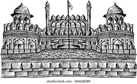 The Red Fort was the residence of the Mughal emperor of India for nearly 200 years, until 1857. It is located in the centre of Delhi and houses a number of museums.