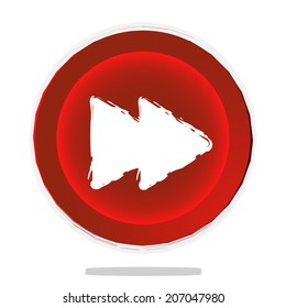 red forward button vector illustration