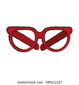 red frame glasses icon image