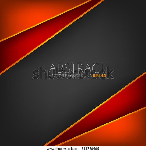 Red Frame Vector Background Overlap Layer | Backgrounds