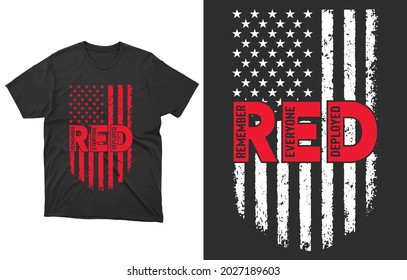 Red Friday T-Shirt Vector Design, Red Friday Support, R.E.D Sweater, Deployment Shirt, Red Friday Gifts, Military Red Friday,