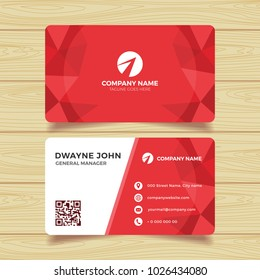 Red Geometric Business Card Template