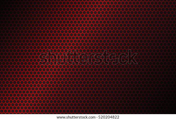 Red Geometric Polygons Background Hexagon Symbol Stock Vector