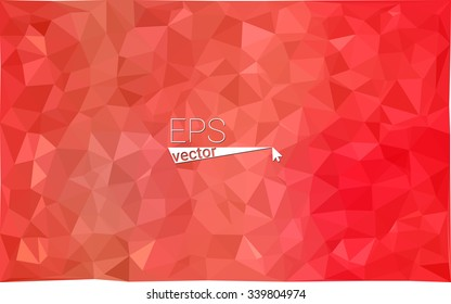 Red geometric rumpled triangular low poly origami style gradient illustration graphic background. Vector polygonal design for your business.