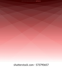 Red geometry triangle background with white space for text and message design, vector