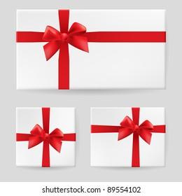 Red gift bow. Illustration on white background for design